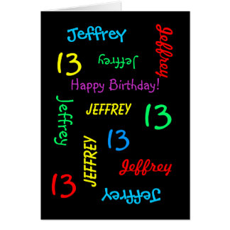 Personalized Greeting Card, 13th Birthday Card