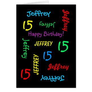 Personalized Greeting Card, 15th Birthday Card