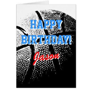 Personalized greeting card Basketball sports