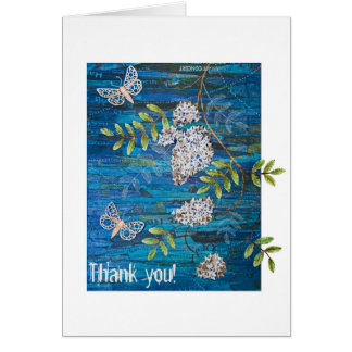 Personalized Greeting Card with Night Moths