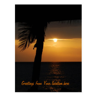 Personalized Greetings from the Tropics Postcard