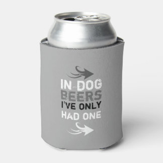 Personalized grey and white beer quote can cooler