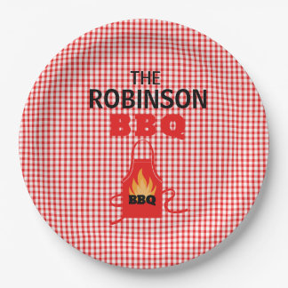 Personalized Grill Apron BBQ Paper Plates 9 Inch Paper Plate