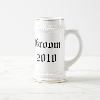 Personalized groom Wedding favor stein