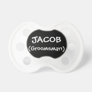 Personalized Groomsman Baby Pacifiers