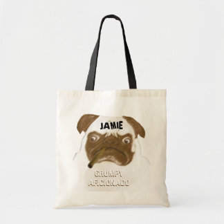 Personalized Grumpy AFICIONADO Puggy Cigar Bag