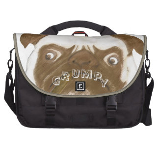 Personalized Grumpy Puggy with Cigar Bag For Laptop