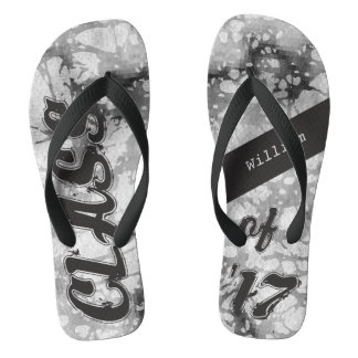 Personalized Grunge Class of 2017 Flip Flops