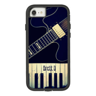 Personalized Grunge Piano Keyboard Guitar Case-Mate Tough Extreme iPhone 8/7 Case