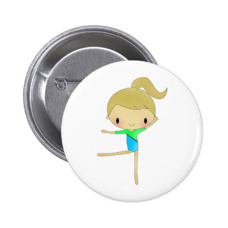 Personalized Gymnastics accessories Pinback Buttons