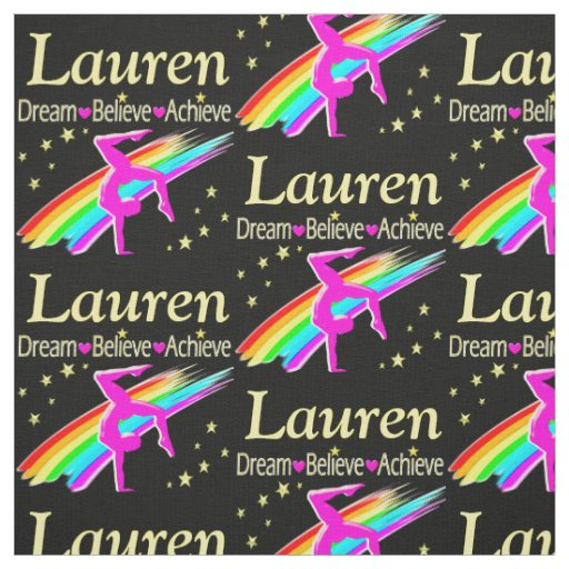 PERSONALIZED GYMNASTICS DREAMS FABRIC