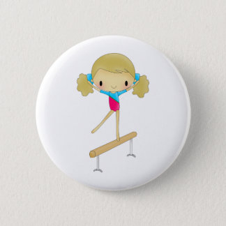 Personalized Gymnastics gifts and accessories 6 Cm Round Badge