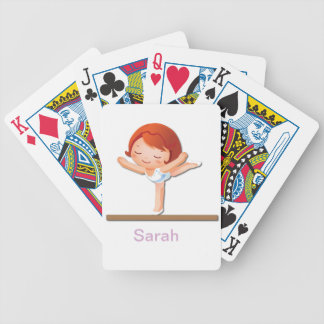 Personalized Gymnastics Gifts Bicycle Playing Cards