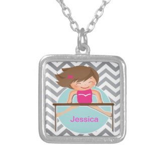 Personalized Gymnastics girls Bars Necklace
