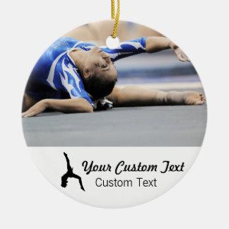 Personalized gymnastics photo name Christmas Christmas Ornament
