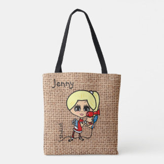 Personalized Hair Stylist Bag Caricature blonde