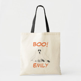 Personalized Halloween Ghost Tote