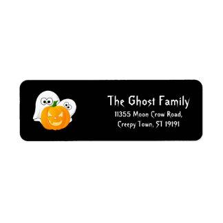 Personalized Halloween Ghosts Pumpkin Return Address Label