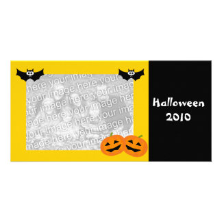 Personalized Halloween Pumpkin Photo Card