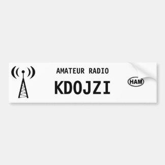Personalized Ham Radio Bumper Sticker