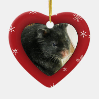 Personalized Hamster Photo Holiday Ornament