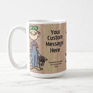 Personalized Handy Man Carpenter Painter gift Basic White Mug