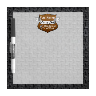 Personalized Handyman Fix-It Custom Name Dry Erase Board