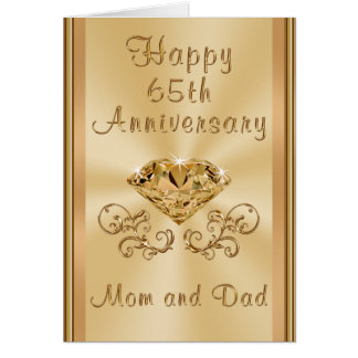 Personalized Happy 65th Wedding Anniversary Cards