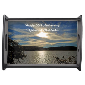 Personalized Happy Anniversary Kolob Sunset Serving Tray