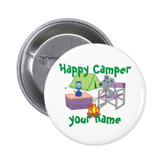 Personalized Happy Camper Pin