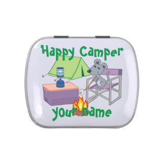 Personalized Happy Camper Jelly Belly Tins