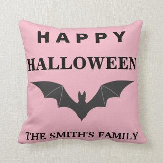 Personalized Happy Halloween Bat Cushion
