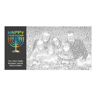 Personalized Happy Hanukkah Manorah Photo Cards