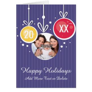 Personalized Happy Holiday Xmas Photo Greeting Greeting Card