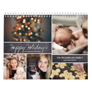 Personalized Happy Holidays, New Year, Photo Calendars