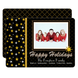 Personalized Happy Holidays Photo Card