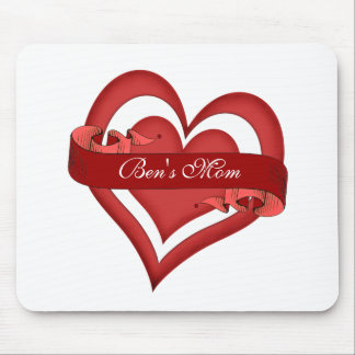 Personalized Happy Mother's Day Heart Mom Mouse Mat