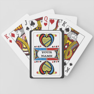 Personalized Harp and Heart Poker Deck