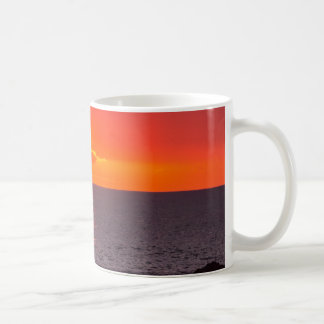 Personalized Hawaii Beach Ocean Tropical Sunset Basic White Mug