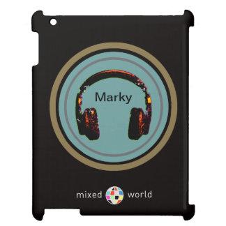 personalized headphone dj iPad cases
