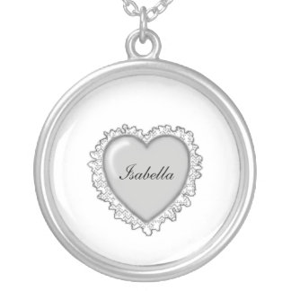 Personalized Heart1 Necklaces