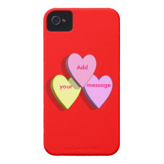 Personalized Heart Candy Custom Message Skin Blackberry Bold Cover
