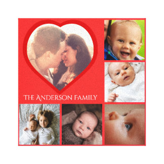 Personalized heart canvas print
