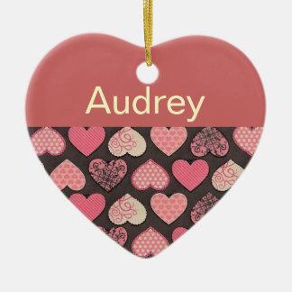 Personalized Heart Door Hanger Ceramic Heart Decoration