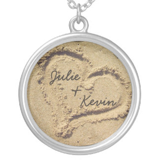 Personalized Heart in the Sand Necklace