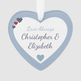 Personalized heart Love Always Husband Boyfriend Ornament