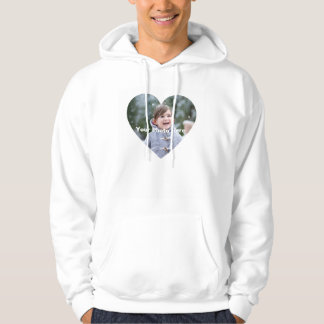 Personalized Heart-Shaped Photo Men's Hoodie
