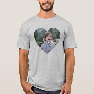 Personalized Heart-Shaped Photo Men's T-Shirt