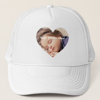 Personalized Heart-Shaped Photo T-Shirt Trucker Hat