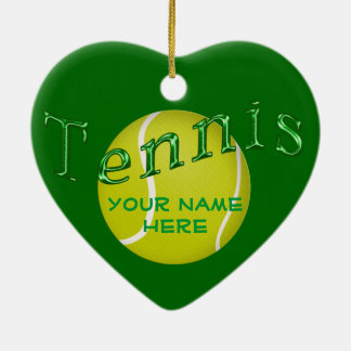PERSONALIZED Heart Shaped Tennis Ornaments